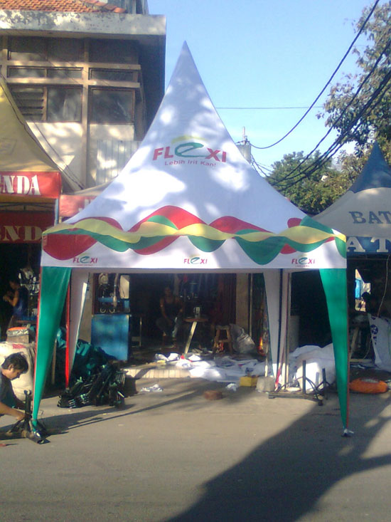 TENDA KERUCUT, TENDA PROMOSI FLEXI